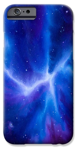 Hydrogen Paintings iPhone Cases - Spider Nebula iPhone Case by James Christopher Hill