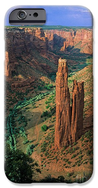 Red Rock iPhone Cases - Spider Rock iPhone Case by Inge Johnsson