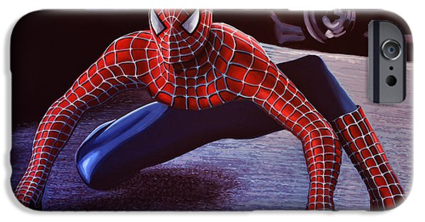 Action iPhone Cases - Spiderman 2 iPhone Case by Paul Meijering