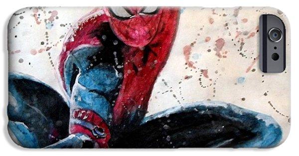Dc Universe iPhone Cases - Spiderman iPhone Case by Daniel Piskorski