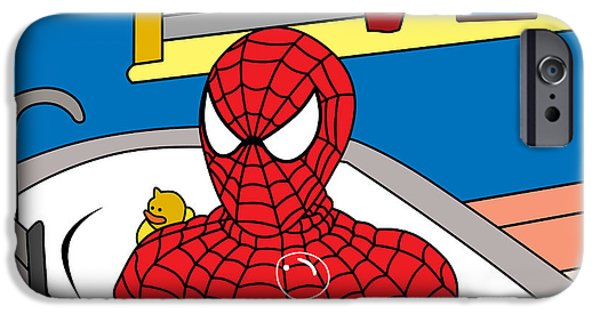 Animation iPhone Cases - Spiderman  iPhone Case by Mark Ashkenazi