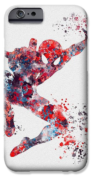 Home iPhone Cases - Spiderman iPhone Case by Rebecca Jenkins