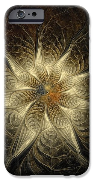 Floral Digital Art Digital Art Digital Art iPhone Cases - Spidery iPhone Case by Amanda Moore