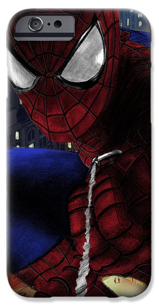 Justice League iPhone Cases - Spidey iPhone Case by Yf Jarosova