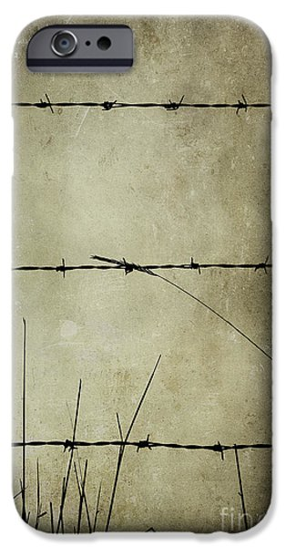 Abstract Digital Mixed Media iPhone Cases - Spikey Wire iPhone Case by Svetlana Sewell