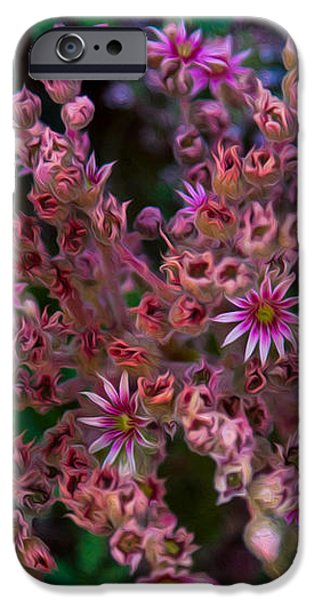 Spiky Flowers iPhone Case by Omaste Witkowski
