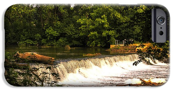 Oak Creek iPhone Cases - SpillWay Early Morning iPhone Case by Thomas Woolworth