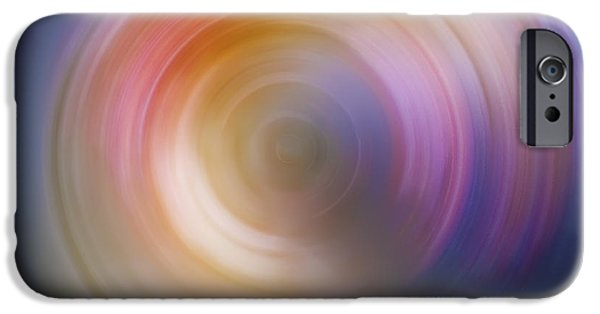 Abstract Digital Photographs iPhone Cases - Spin Art 2 iPhone Case by The  Vault - Jennifer Rondinelli Reilly