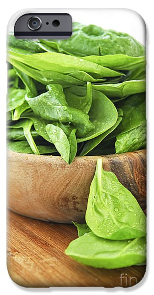Mounds iPhone Cases - Spinach iPhone Case by Elena Elisseeva
