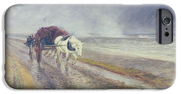 The Horse iPhone Cases - Spindrift iPhone Case by John MacWhirter