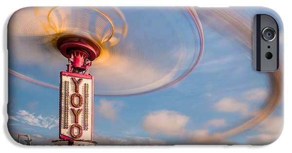 Fourth Of July iPhone Cases - Spinning at an Angle iPhone Case by Greg Nyquist