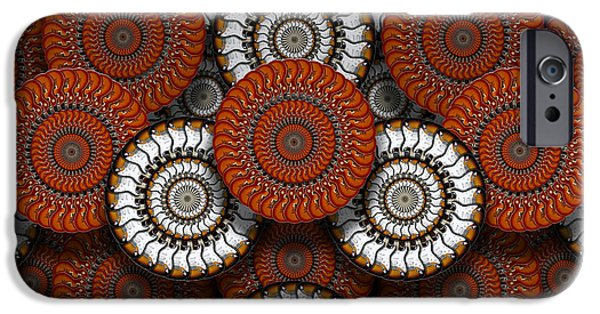 Rock And Roll Digital Art iPhone Cases - Spinning in Harmony  iPhone Case by Mike McGlothlen