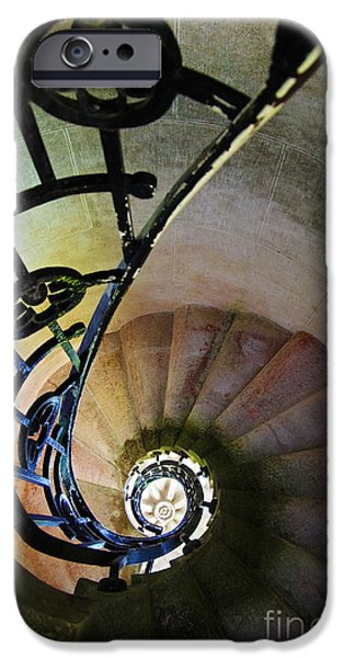 Indoor iPhone Cases - Spinning Stairway iPhone Case by Carlos Caetano