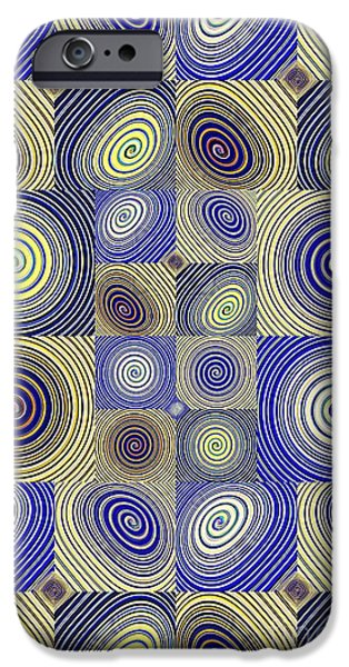 Abstract Digital iPhone Cases - Spiral Design 2 iPhone Case by Sarah Loft