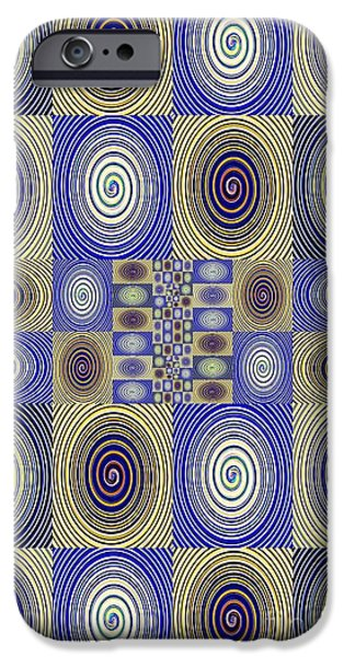 Abstract Digital Digital Art iPhone Cases - Spiral Design 3 iPhone Case by Sarah Loft