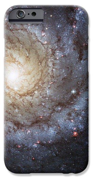 Spiral Galaxy M74 iPhone Case by Adam Romanowicz