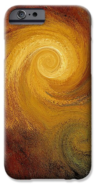 Fury iPhone Cases - Spiral Galaxy  iPhone Case by Mike Grubb