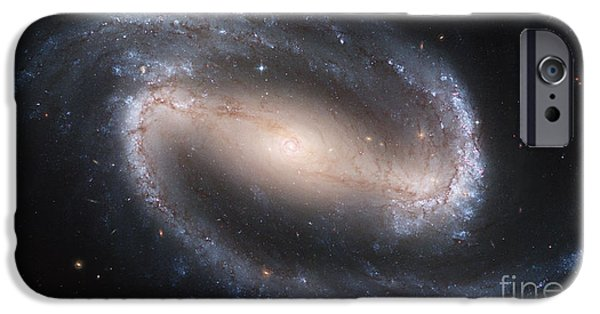 Heavenly Body iPhone Cases - Spiral Galaxy Ngc 1300 iPhone Case by Science Source
