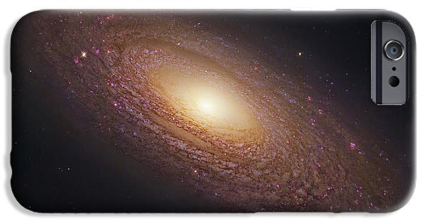 Stellar iPhone Cases - Spiral Galaxy NGC 2841 iPhone Case by Celestial Images