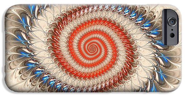 Spiral Mixed Media iPhone Cases - Spiral Journey iPhone Case by Anastasiya Malakhova