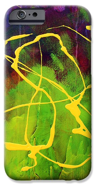 Free Form Paintings iPhone Cases - Spiral iPhone Case by Nancy Merkle