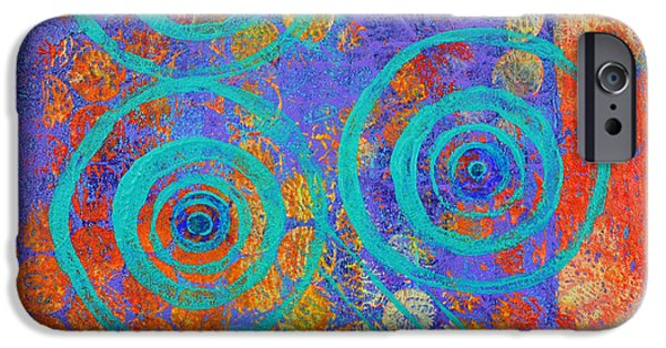 Spiral Mixed Media iPhone Cases - Spiral Series - Inroads iPhone Case by Moon Stumpp