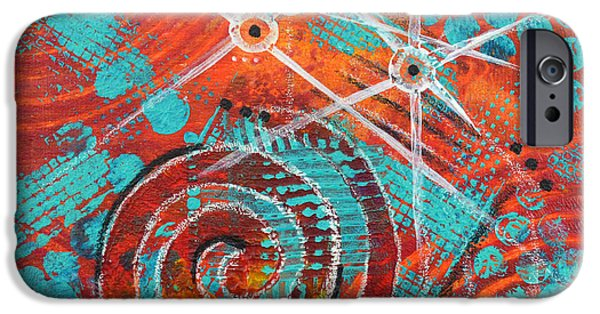 Abstract Movement Mixed Media iPhone Cases - Spiral Series - Missive iPhone Case by Moon Stumpp