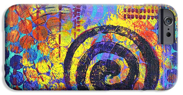 Spiral Mixed Media iPhone Cases - Spiral Series - Voice iPhone Case by Moon Stumpp