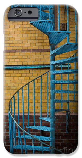Scandinavia iPhone Cases - Spiral Staircase iPhone Case by Inge Johnsson