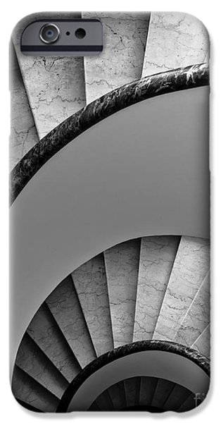 Charly iPhone Cases - Spiral Staircase iPhone Case by Prints of Italy