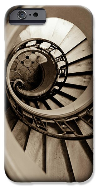 Stairs iPhone Cases - Spiral Staircase iPhone Case by Sebastian Musial
