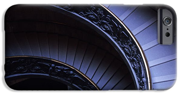 Descending iPhone Cases - Spiral Staircase, Vatican Museum, Rome iPhone Case by Panoramic Images
