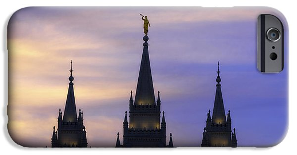 Buildings iPhone Cases - Spires iPhone Case by Chad Dutson