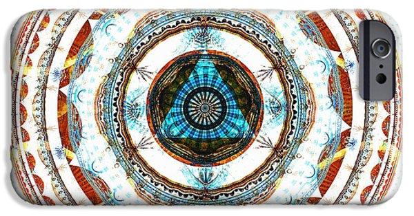 Mandala iPhone Cases - Spirit Circle iPhone Case by Anastasiya Malakhova