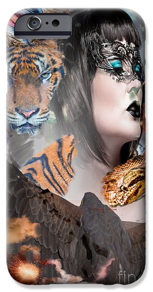 Michael Mixed Media iPhone Cases - Spirit Guides 2 iPhone Case by M and L Creations