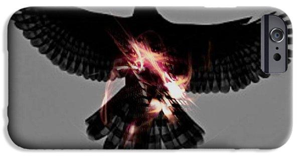 Spirit Hawk iPhone Cases - Spirit Hawk iPhone Case by Rebecca  Lemke
