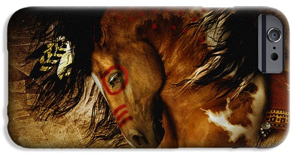 Earth Tone Art iPhone Cases - Spirit Horse iPhone Case by Shanina Conway