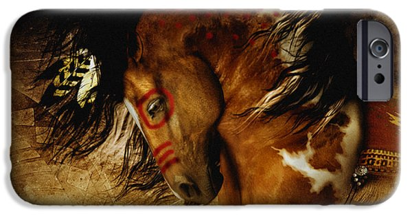 Earth Tone iPhone Cases - Spirit Horse iPhone Case by Shanina Conway