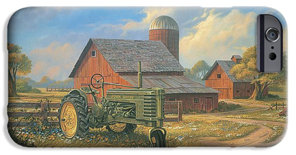 Barns Paintings iPhone Cases - Spirit of America iPhone Case by Michael Humphries