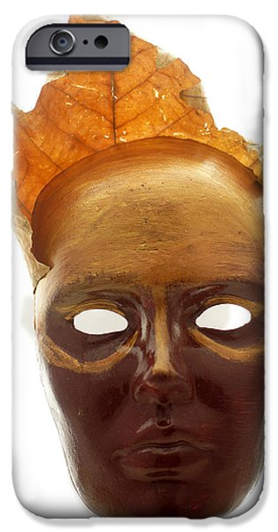 Fall Sculptures iPhone Cases - Spirit of fall - papier mache  iPhone Case by Christian V Stanescu
