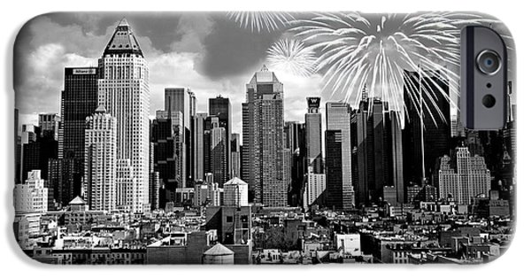 Fourth Of July iPhone Cases - Spirit of New York City iPhone Case by Diana Angstadt