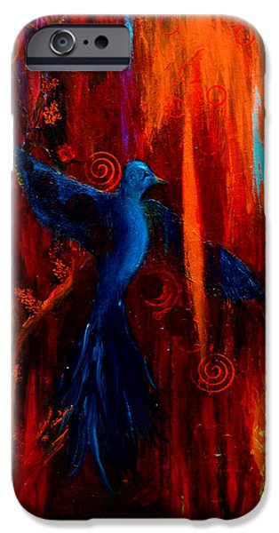 Symbol Of The Soul iPhone Cases - Spirit of Peace iPhone Case by Patricia Motley