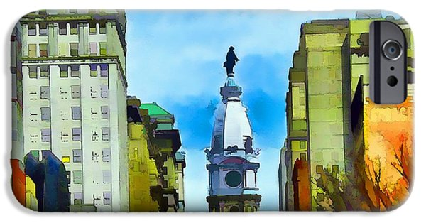 Abstract Digital Photographs iPhone Cases - Spirit Of Philly iPhone Case by Robyn King