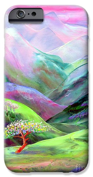Glowing iPhone Cases - Spirit of Spring iPhone Case by Jane Small