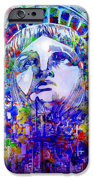 Empire State iPhone Cases - Spirit Of The City 2 iPhone Case by MB Art factory