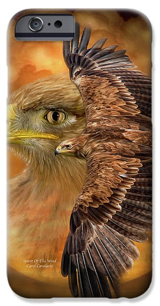 Giclee Mixed Media iPhone Cases - Spirit Of The Wind iPhone Case by Carol Cavalaris