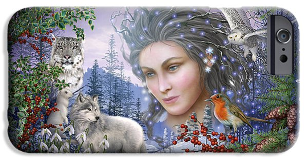 Gypsy Digital iPhone Cases - Spirit of Winter Variant I iPhone Case by Ciro Marchetti