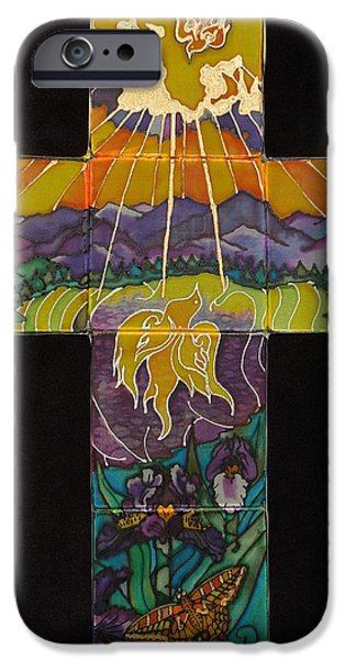 Mountain Tapestries - Textiles iPhone Cases - Spirit Reflection iPhone Case by Annelle Woggon