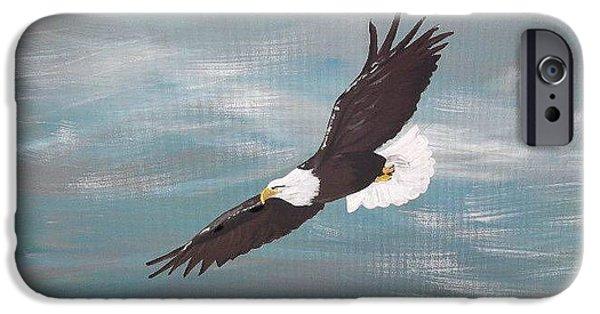 Spirit Hawk iPhone Cases - Spirit iPhone Case by Stacey Austin