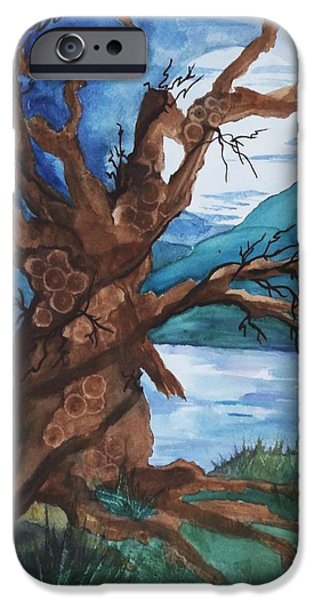 Spirit Tree iPhone Case by Ellen Levinson